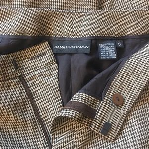 Like new Dana Buchman lined houndstooth wool pants